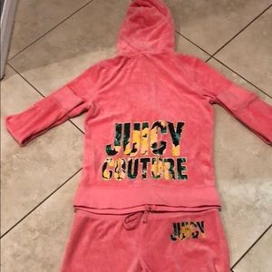 Juicy Couture Velour Pink Outfit- Medium